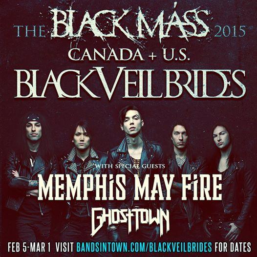 Black veil brides announce new tour with memphis may fire and ghost blackveilbrides memphismayfire m4hsunfo