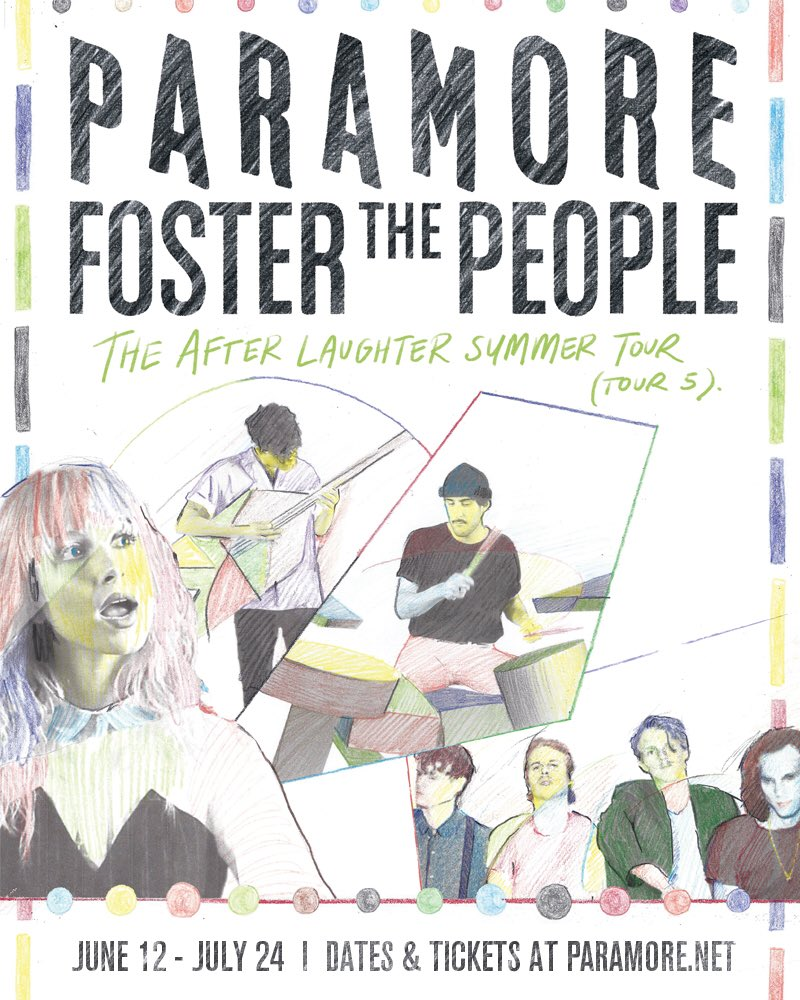 Don T Miss Out Paramore Gear Up For Tour 5 With Foster